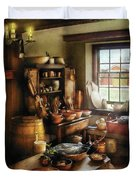 Kitchen - Nothing Like Home Cooking Duvet Cover by Mike Savad