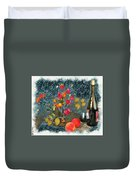 Kitchen - Peaches And Wine Painting  Duvet Cover by Liane Wright