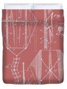 Kite Patent On Red Duvet Cover