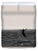 Kite Surfing Pose Duvet Cover
