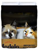 Kittens In A Box Duvet Cover