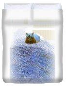Kitty Blue IIi Duvet Cover