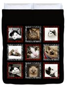 Kitty Cat Tic Tac Toe Duvet Cover