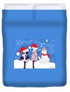Kitty Christmas Duvet Cover