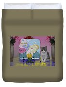 Kitty Says Wow Duvet Cover