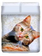 Kitty Strange Duvet Cover