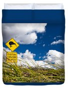 Kiwi Crossing Road Sign In Nz Duvet Cover