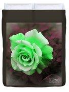 Kiwi Lime Rose Duvet Cover