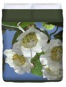 Kiwifruit Blossoms Duvet Cover