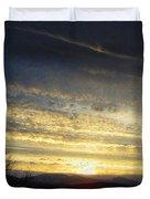 Klamath Lake Sunset Duvet Cover