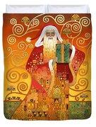 Klimt Santa Duvet Cover