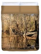Knees And Reflections Duvet Cover