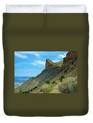 Knife Edge Road Overlooking Montezuma Valley In Mesa Verde National Park-colorado  Duvet Cover