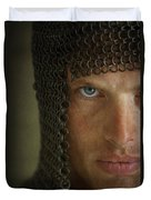 Knight In Chainmail Portrait Duvet Cover
