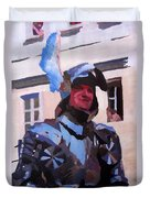 Knight In Full Armor During Parade Duvet Cover