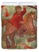 Knight Of Wands Duvet Cover