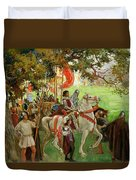 Knights Assembling, From Sir Nigel Duvet Cover