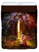 Knock At The Door Duvet Cover