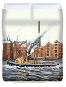 Knocker White Sailing Down River Past Rotherhithe Duvet Cover