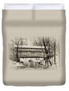 Knox Valley Forge Covered Bridge Duvet Cover