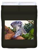 Koala Eating In A Tree Duvet Cover