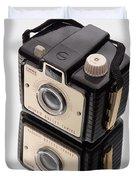 Kodak Brownie Bullet Camera Mirror Image Duvet Cover