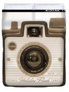 Kodak Brownie Holiday Flash Duvet Cover