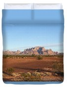 Kofa Mountains With Wild Palm Trees Duvet Cover