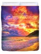 Kohala Sunset Duvet Cover
