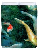 Koi Pond 2 Duvet Cover
