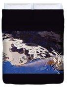 Koi Pond Abstract Duvet Cover