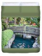 Koi Pond In Senso-ji Temple Grounds Duvet Cover