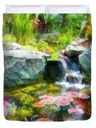 Koi Pond Duvet Cover