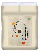 Koi Universe Utsuri Mono Painting Duvet Cover