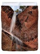Kolob Canyons Falling Waters Duvet Cover