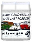 Kombis And Beetles Last Forever Duvet Cover