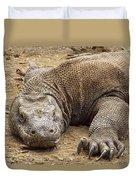 Komodo Dragon Male Basking Komodo Island Duvet Cover