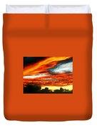 Kona Sunset 77 Lava In The Sky  Duvet Cover