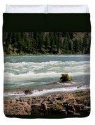 Kootenai Falls Montana Duvet Cover