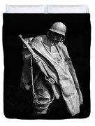 Korean War Veterans Memorial Rifleman Duvet Cover
