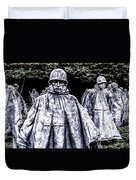 Korean War Veterans Memorial Washington Duvet Cover