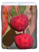 Kousa Dogwood Fruit Duvet Cover
