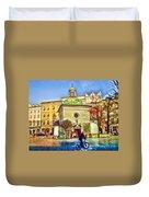 Krakow Main Square Old Town  Duvet Cover