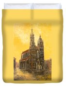 Krakow - Mariacki Church Duvet Cover