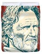 Kris Kristofferson Pop Art Duvet Cover