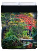 Kubota Gardens In Autumn Duvet Cover