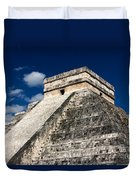 Kukulkan Pyramid At Chichen Itza Duvet Cover