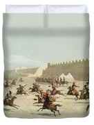 Kurdish And Tatar Warriors At Sadar Duvet Cover