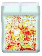 Kurt Cobain Live Concert - Watercolor Portrait Duvet Cover