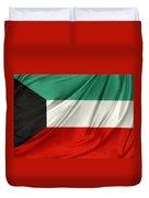 Kuwait Flag  Duvet Cover by Les Cunliffe
